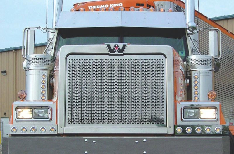 Western Star 4900 Punched Grill Insert By Roadworks Raney S