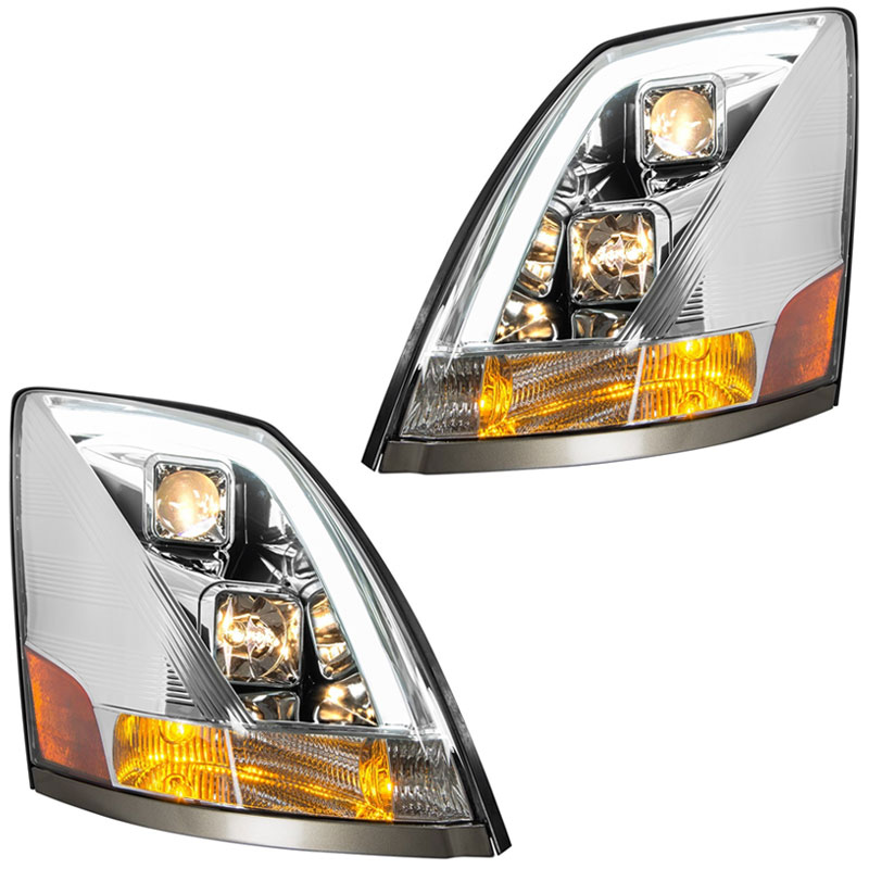 Volvo VNL 2004-16 Driver Side GG Grand General 89418 Black Projection Headlight OE Style