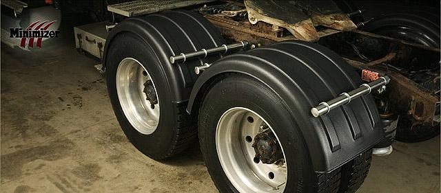 Minimizer Poly Fenders : Minimizer single axle fenders raney s truck parts