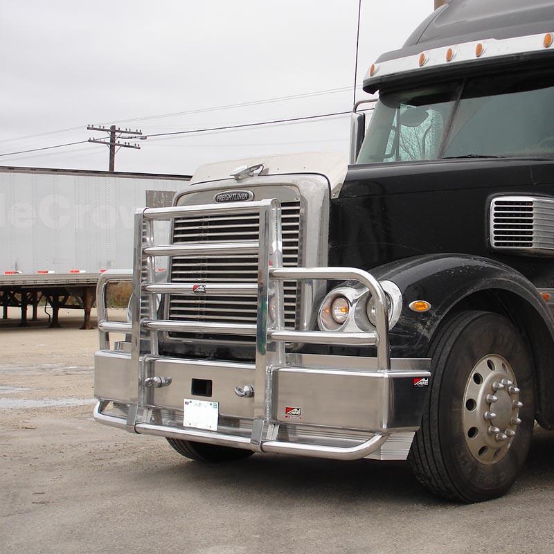 Freightliner Cascadia Semi Truck Bumper Guard Deer Grill Guard Moose w// LED Bar