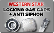 Western Star Locking Gas Caps and Anti Siphons